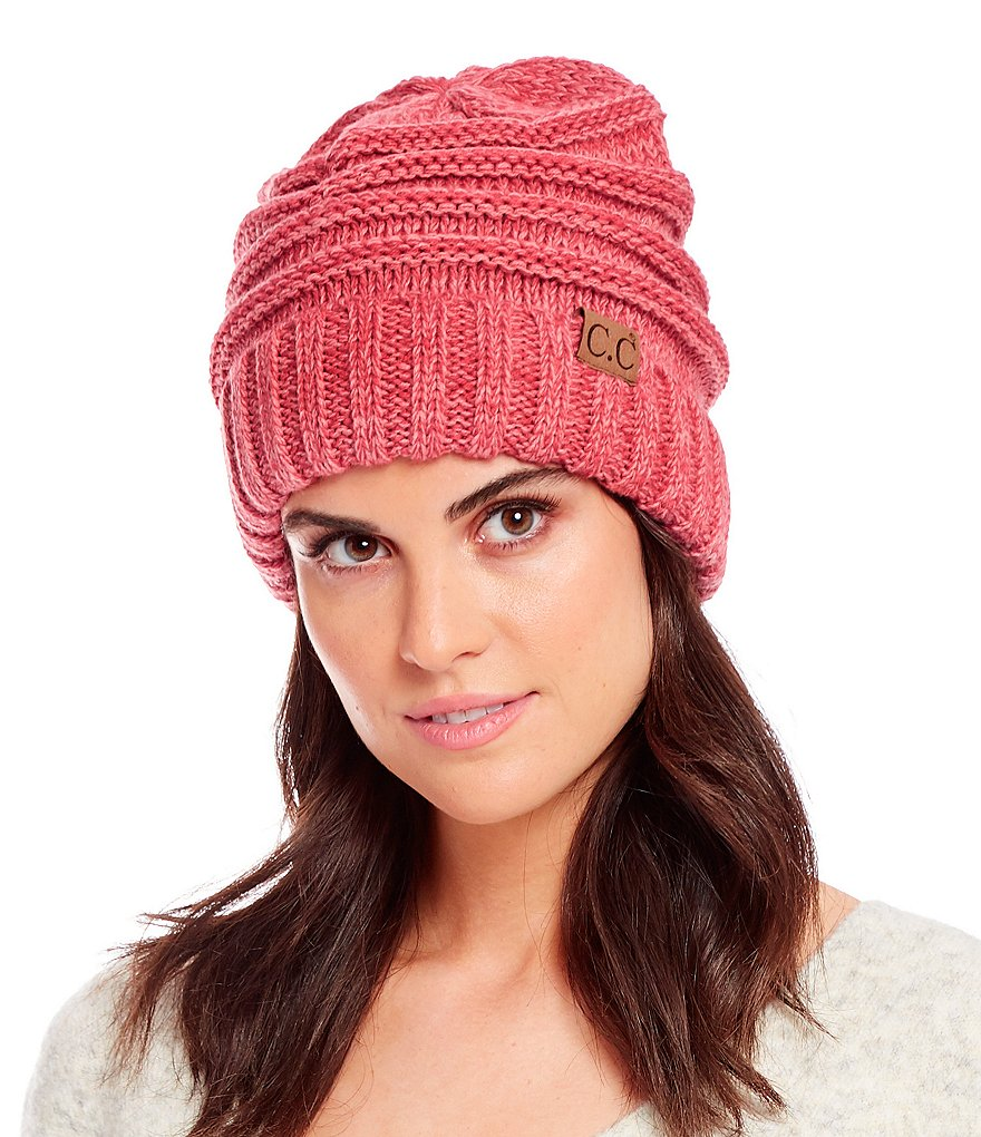 Multi Color Oversized Slouchy Cc Beanie Hats