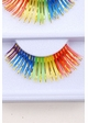 Multi Rainbow Lashes with Gold Metallic Wisps inset 1
