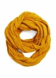 Mustard CC Brand Cable Knit Infinity Scarf inset 2