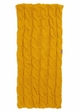 Mustard CC Brand Cable Knit Infinity Scarf inset 3