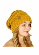 Mustard Slouchy Knit CC Beanie Hat inset 3