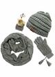 Natural Grey Confetti Yarn Knit Scarf from CC Brand inset 1