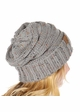 Natural Grey Slouchy Confetti Knit CC Beanie Hat inset 2