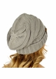 Natural Grey Slouchy Knit CC Beanie Hat inset 2