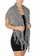 Natural Grey Twisty Chenille Yarn Infinity CC Scarf with Fringe  inset 1