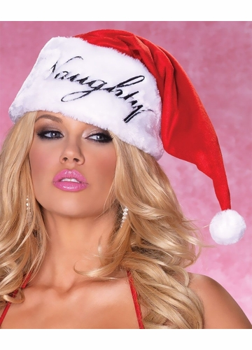 Naughty or Nice Reversible Santa Hat