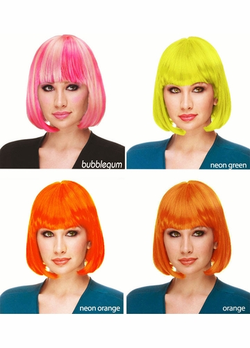 Neon and Rave Colors of Bob Wig Cindy