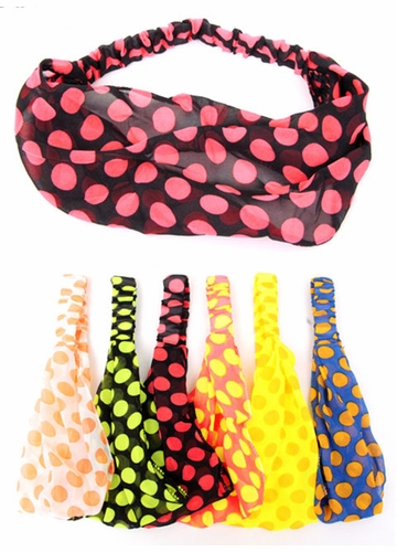 Neon Polka Dot Headband