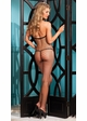 Net Bodystocking with Bow Front inset 1