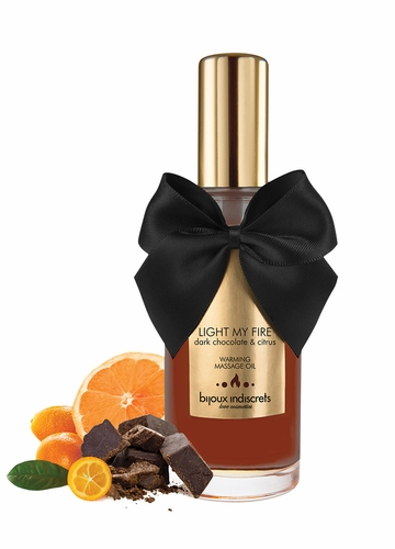 Dark Chocolate Warming and Kissable Massage Oil