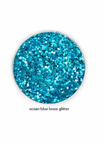 Ocean Blue Color of Luxe Glitter Powder for Eyeliner and Eye Makeup