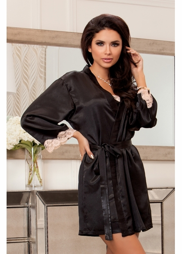 Olivia Satin and Lace Robe