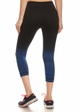 Ombre Active Wear Capri Leggings in Blue and Black inset 2