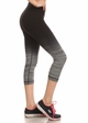 Ombre Active Wear Capri Leggings in Grey and Black inset 1