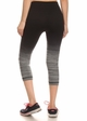 Ombre Active Wear Capri Leggings in Grey and Black inset 2