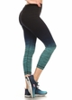 Ombre Active Wear Capri Leggings in Mint and Navy inset 1