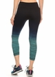 Ombre Active Wear Capri Leggings in Mint and Navy inset 2
