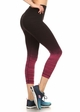 Ombre Active Wear Capri Leggings in Pink and Black inset 1