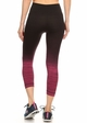 Ombre Active Wear Capri Leggings in Pink and Black inset 2