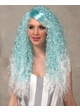 Ombre Blue Long Curly Fantasy Wig Nova inset 1