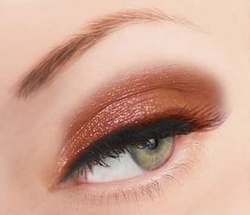 Orange Glitter Powder for Eyeliner and Eye Makeup