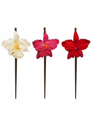 Orchid Flower Hair Stick