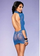 Orchid Lace High Neck Mini Dress with Open Back inset 3