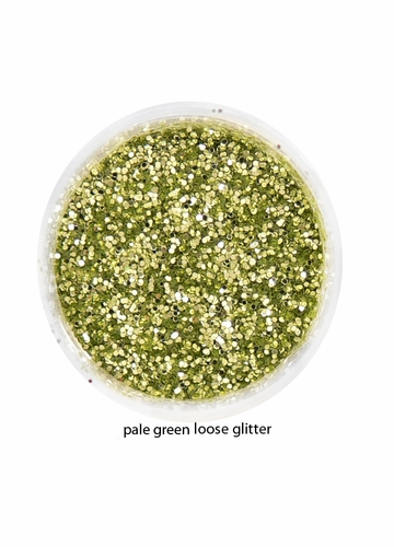Pale Green Color of Luxe Glitter Powder for Eyeliner and Eye Makeup