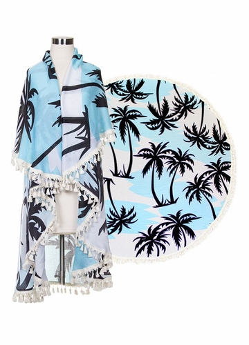 Palm Trees Beach Blanket Coverup