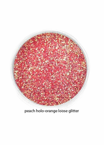 Peach Holo-Orange Color of Luxe Glitter Powder - Eyeliner & Eye Makeup