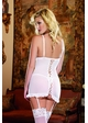 Pearl White Garter Dress with Thong inset 1
