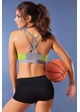 Perforated Microfiber Sports Bra inset 2