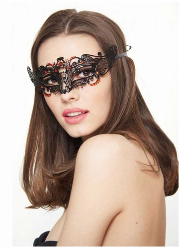 Petite Masquerade Mask with Crystals