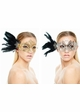 SALE Phoenix Laser Cut Masquerade Mask With Feathers inset 3