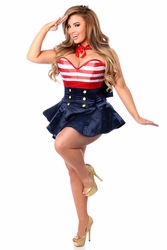 Pin Up Sailor Corset Costume up to Size 6X