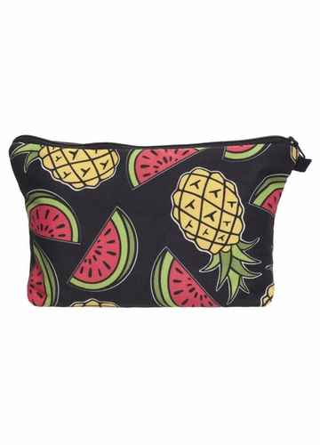 Pineapple and Watermelon Make-Up Bag by Zohra