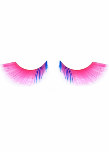 Pink Fake Lashes with Blue Corner