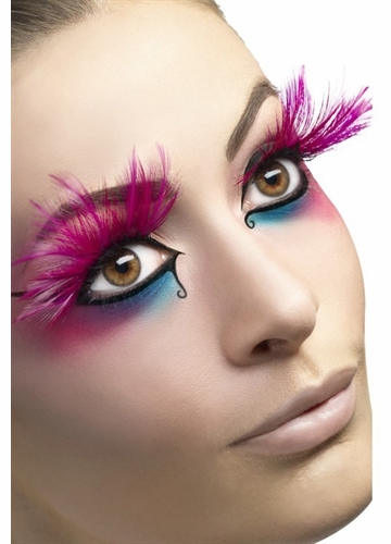 Pink Feather Plume Eyelashes