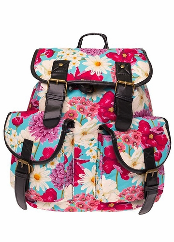 Pink Flower Backpack