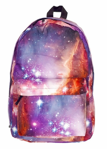 Pink Galaxy Backpack by Zohra