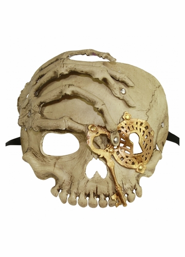 Pirate Skull with Eyepatch and Key Mask