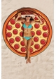 Pizza Round Beach Blanket Coverup inset 1
