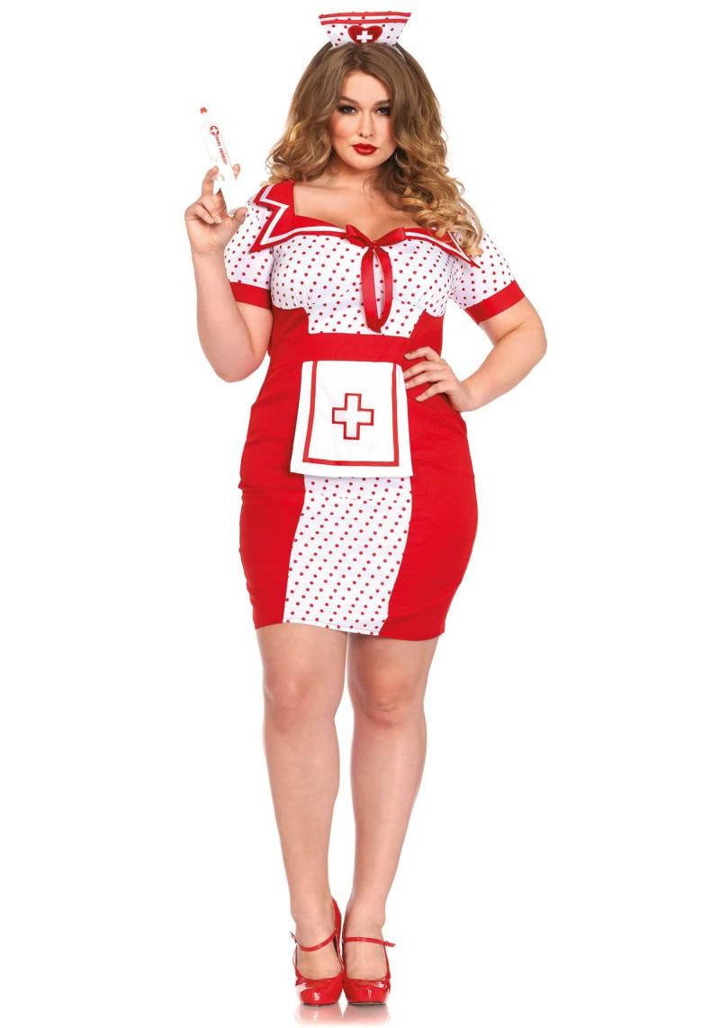 plus size bedside betty nurse halloween costume