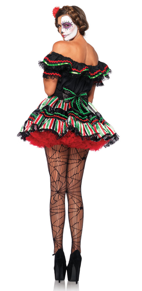 03e77a8eef9 Plus Size Day of the Dead Doll Costume inset 1