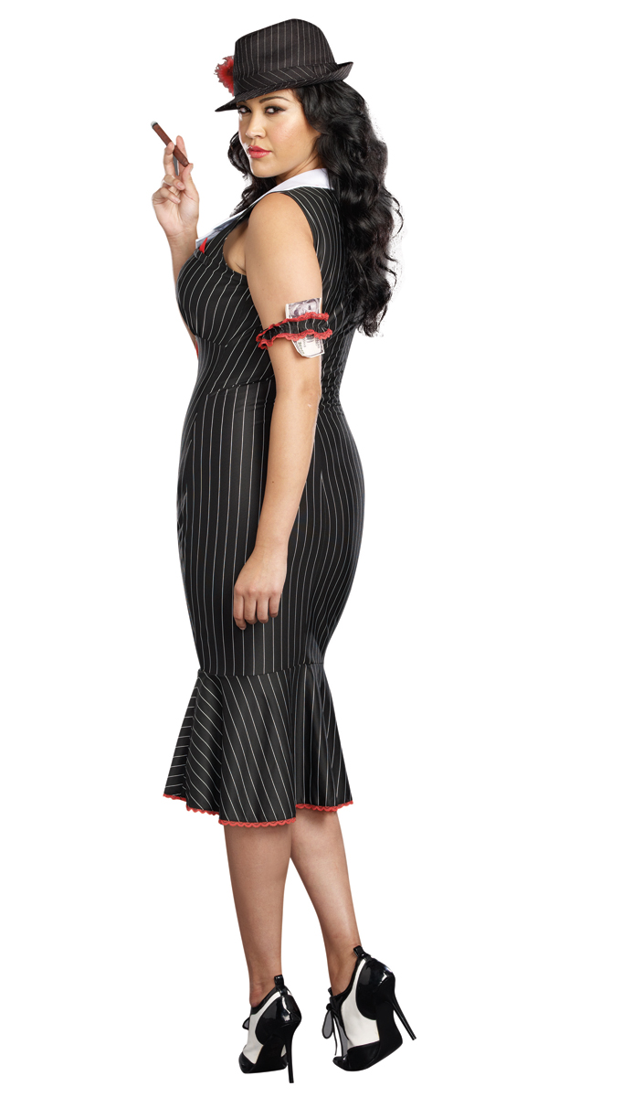 plus size deadly dame gangster halloween costume inset 2 - Female Gangster Halloween Costumes