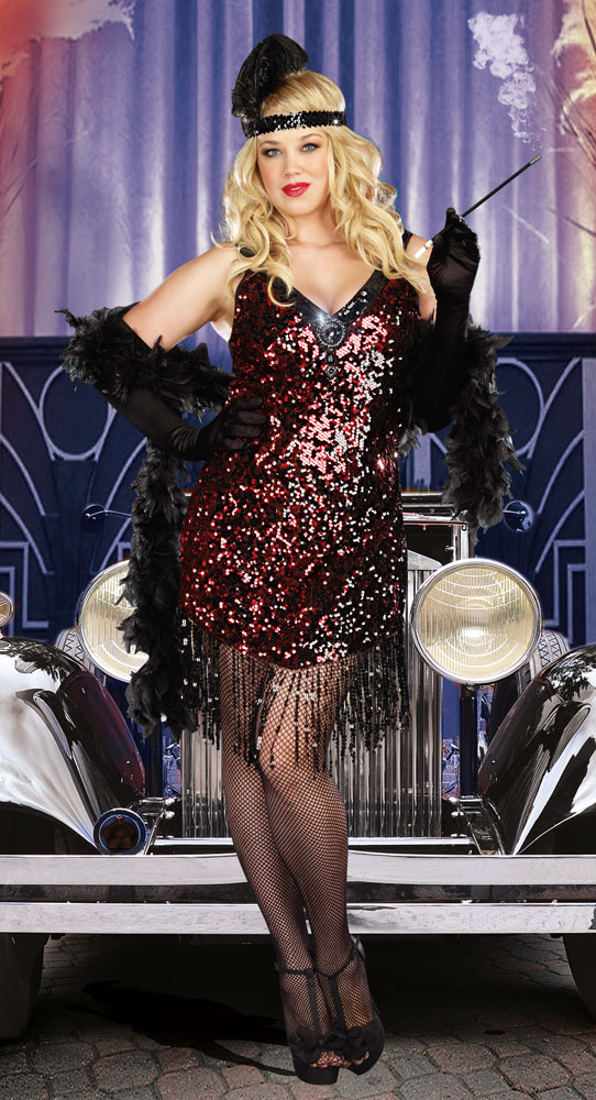 05d802c73a0 Plus Size Flapper Costume