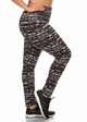 Plus Size Four Way Stretch Athletic Leggings in Abstract Pattern inset 1