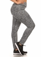 Plus Size Four Way Stretch Athletic Leggings in Aztec Pattern inset 1