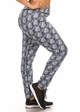 Plus Size Four Way Stretch Athletic Leggings in Cubic Pattern inset 1