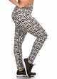 Plus Size Four Way Stretch Athletic Leggings in Shadow Pattern inset 1